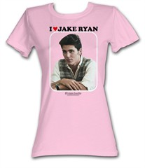 Sixteen Candles Juniors T-Shirt – Love Jake Ryan Pink Tee Shirt