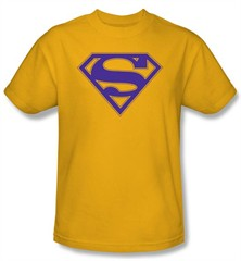 superman logo t shirt purple and gold shield adult gold tee shirt Daniel Craig: 'James Bond is not gay'